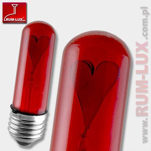 Żarówka tląca serce E27 [czerwona]